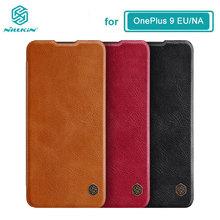 Do etui OnePlus 9 Nillkin Qin Series etui ze skóry PU z klapką do pokrowca OnePlus 9 EU NA tanie tanio CN (pochodzenie) Etui z klapką Zwykły Free shipping PU leather + PC