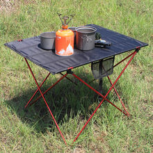Outdoor Furniture Table Red Folding Camping Table Light Color Weight Ultralight Desk Fishing Tables Modern Foldable Furniture cheap Lighten Up Metal Aluminum Minimalist Modern Assembly Rectangle 56 * 43 * 37cm 22 05 * 16 93 * 14 57in Outdoor Table Fabric