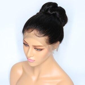 Image 2 - Pre Gezupft Gerade 360 Spitze Frontal Perücke Mit Baby Haar 150% Dichte Menschenhaar Spitze Perücken Für Schwarze Frauen Brasilianische remy Haar