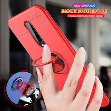 Caso para oneplus 8 nord 7t 6 6t pro z tpu macio magnético carro suporte do telefone capa coque
