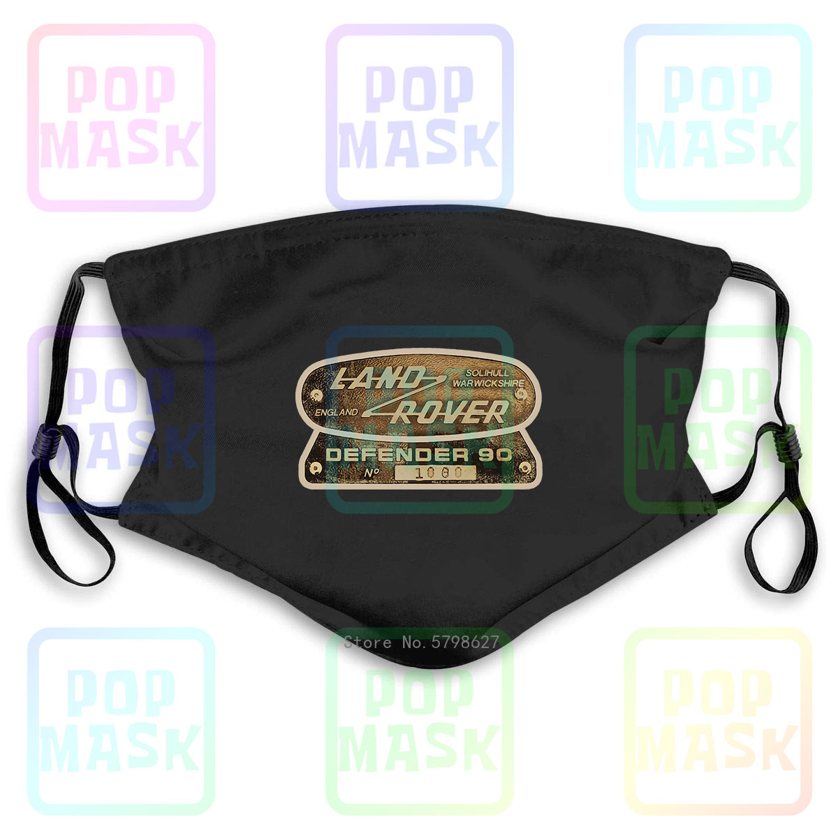 Landrover Defender 4 X4 Four By Four Off Road Ideal Gift Washable Reusable Mask With 2Pcs PM2.5 Filters 5 Layers
