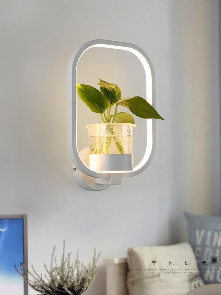 Modern minimalist Nordic creative living room restaurant staircase aisle lamp study bedroom bedside lamp plant wall lamp