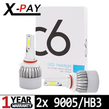 NEW Arrival 9005 HB3 9006 HB4 12V 36W LED COB Canbus Super White 6000K High Beam Headlight Replacement Lamps Light Bulbs 2x