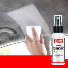 50ml skóra czyszczenie wnętrza środek do bieżnikowania środek do czyszczenia na sucho środek piankowy wnętrze pralka przemysłowa środek do czyszczenia skóry tanie tanio NoEnName_Null leather cleaner and conditioner XH0252 0inch 11cm Spary Farby cleaner Interior Cleaning Agent car home