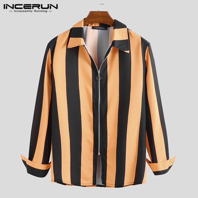 Domple Men Turn Down Collar Trendy Striped Slim Fit Summer Floral Print Button Down Dress Shirts