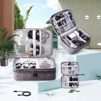 Travel Cable Digital Storage Bag Multi-function Portable Kit Data Cable USB Disk Power Bank Gadget Devices Organizer Accessories cable bag multi function travel digital storage bag mobile power bank headset u disk data cable storage bag usb gadget organizer