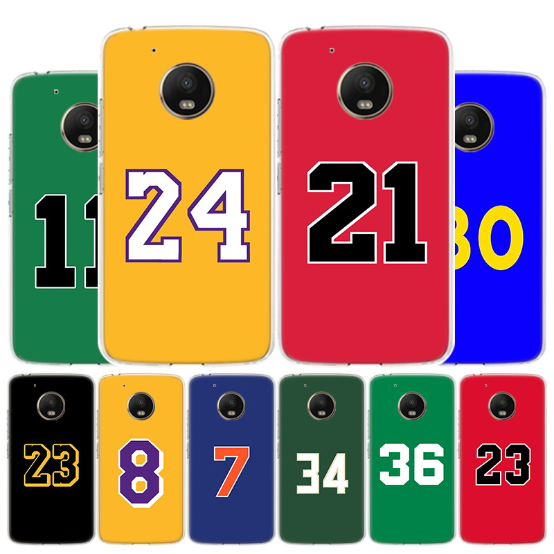 Basketball 23 24 Lucky Number Phone Case For Motorola Moto G8 G7 G6 G5S G5 G4 E6 E5 E4 Plus Play Power One Action X4 Cover Coque