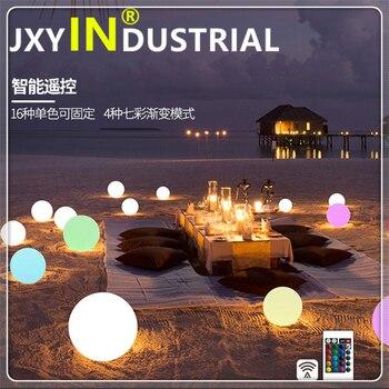 Recarregável rgb led iluminado móveis candeeiros de mesa ao ar livre led iluminado flutuante piscina bola luz com controle remoto