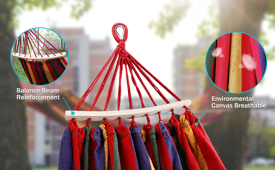 MOSFiATA-Camping-Hammock-with-Thickened-320G-Durable-Canvas-Fabric-Sturdy-Metal-Knot-Tree-Straps-Hanging-Chair-Garden-Furniture-11