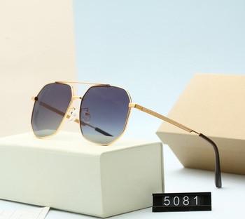 Designer Original Brand Gradient Polarized Toad Sunglasse Fashion Trimming Metal Frame Pilot Sun Glasses Driving UV400 Eyewear 1