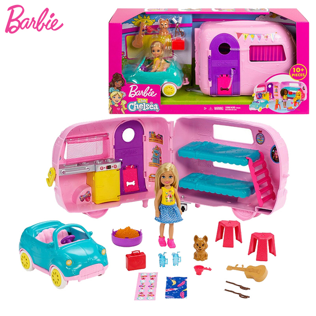Hot Deal 36049 Chelsea Barbie Doll Original Toys Girls Camping Car Playset Baby Toy Doll Barbie House Doll Accessories Toys For Girls Birthday Cicig Co