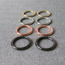20 pcs 25mm Metal spring gate O rings openable key ring bag leather chain harness accessories belt strap wheel buckle snap clasp