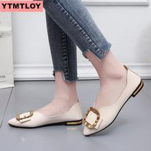 2019 fashion flat shoes pointed low-heeled women's casual shoes spring and autumn women's flat shoes shallow mouth single shoes