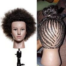 Traininghead Salon Afro manken kafa insan saçı kukla bebek kuaförlük eğitim müdürü gerçek saç manken kafa örgü uygulama