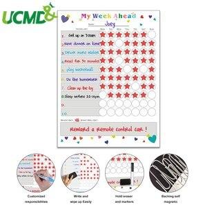 Image 1 - Magnetic WhiteBoard Kids Schedule for Fridge Sticker Weekly Planner To Do List Notepad Message Board Reward chart Art Sticker
