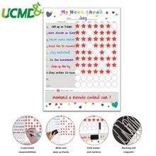 Magnetische Whiteboard Kids Schema Voor Koelkast Sticker Wekelijkse Planner Te Doen Lijst Notepad Bericht Board Beloning Grafiek Art Sticker