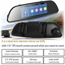 HD 1080P Car DVR Dual Lens Dashboard Digital Video Camera Rear Mirror Dash Cam Recorder Car Monitors Rearview Camcorder(China)