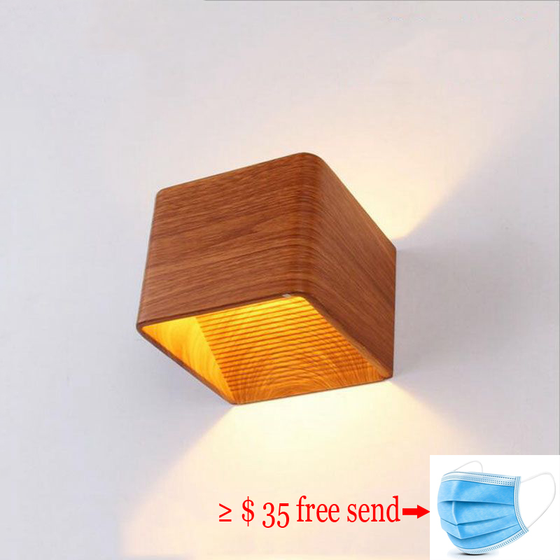 Square LED Indoor Lighting Wall Lamp Modern Home Lighting Decoration Sconce Aluminum Lamp 3W COB 85-265V For Bath Corridor