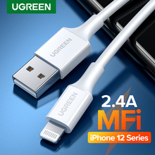 UGREEN MFi USB Cable for iPhone 12 mini 12 Pro Max 2.4A Fast Charging USB Charger Data Cable for iPhone X 11 8 USB Charge Cord
