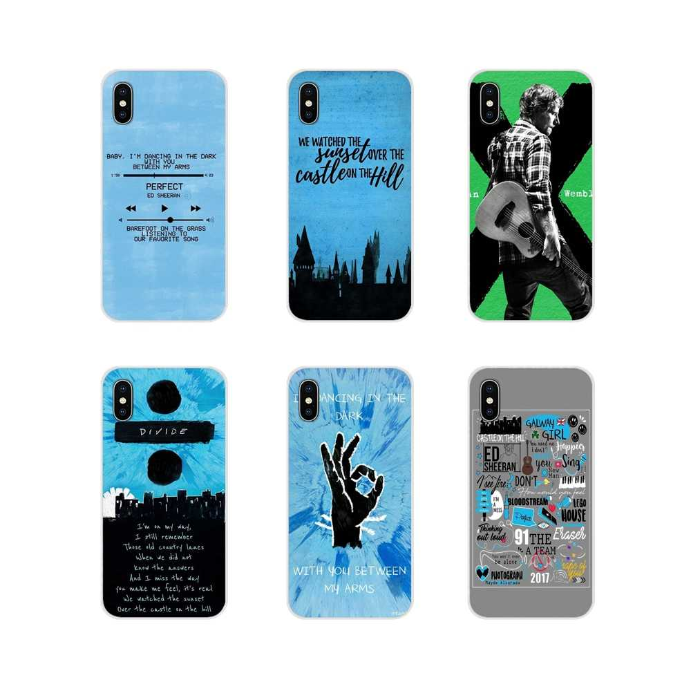 Para apple iphone x xr xs 11pro max 4S 5S 5c se 6 s 7 8 plus ipod touch 5 6 ed sheeran acessórios inteligentes capa de telefone