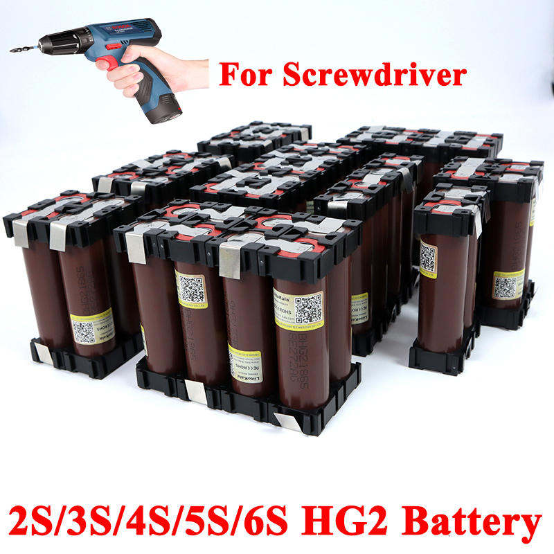 <font><b>18650</b></font> HG2 2S 3S 4S 5S 6S 8S 3000mAh <font><b>6000mAh</b></font> 20 amps 7.4V 12.6V 14.8V 18V 25.2V 29.6V For Screwdriver <font><b>batteries</b></font> weld <font><b>battery</b></font> pack image