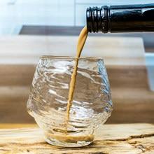 4 Uds. De copas de vino, cristalería con textura, botella de agua, vaso de fresa, para cocina y Bar, Moderno