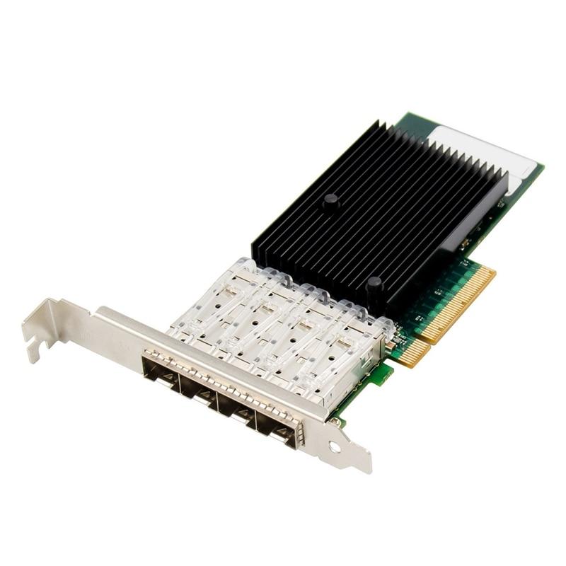 Placa de rede óptica pci-e x8 gigabit