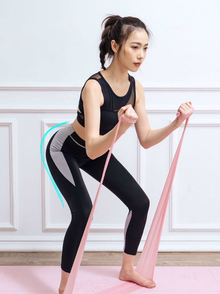 Rubber-Bands Workout-Equipments Power Yoga Pilates Home Gym Exercise Functional Training