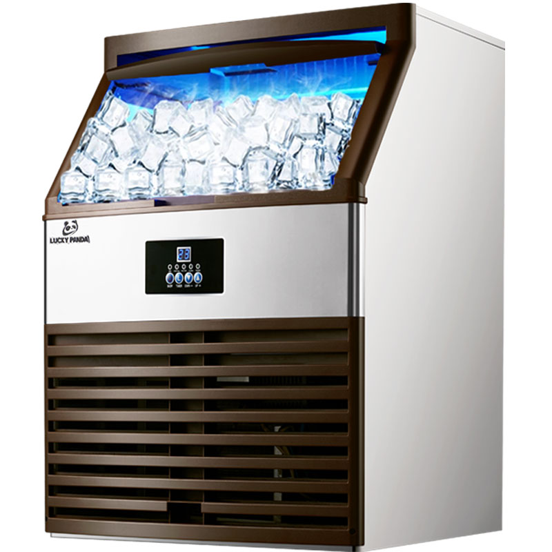 150kg/24H ICE MAKERS Ice Making Machine Milk Tea Room/small Bar/Coffee Shop Fully Automatic Large Ice Cube Machine
