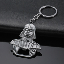 Darth Vader Bottle Opener Keychain Alloy Beer Jewelry Toy Black Key Star Wars Darth Vader Openers for Kitchen Bar Metal Tools famshin high quality top 2018 star wars keyring light black darth vader pendant led keychain for man gift free shipping