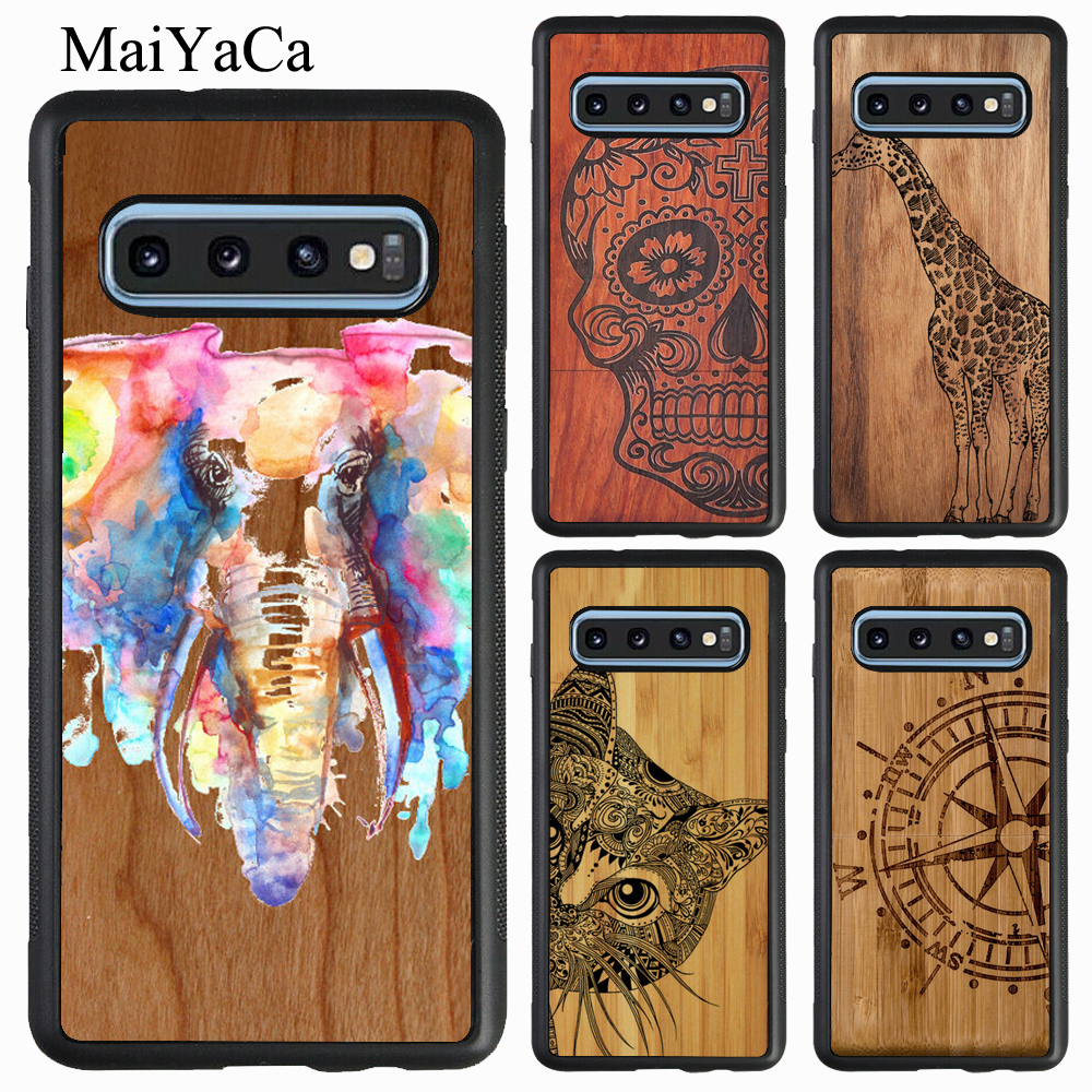 MaiYaCa Natural Bamboo <font><b>Wood</b></font> Pattern Print <font><b>Case</b></font> For <font><b>Samsung</b></font> A20 A50 A70 A10 <font><b>A40</b></font> Note 10 9 8 S7 S8 S9 S10 Plus S10e J4 J6 A9 A8 image