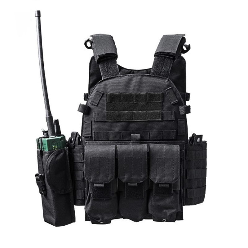 600D Nylon Molle Tactical Vest Body armor Hunting plate Carrier Airsoft 094K M4 Pouch Combat Gear Multicam