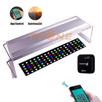 2018 nuevo Chihiros WRGB LED APP versión Aquairum iluminación planta acuática luz con 4 canales controlador mágico como temporizador amanecer