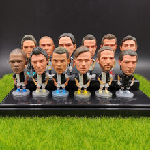 Soccer Player 2.5inch Mini Model JV .C Ronaldo Buffon Dibala Footballplayer 6.5CM Action Figures Doll