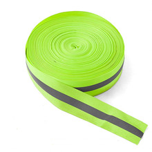 $ 1.88 5M High Visibility Safety Reflective cloth DIY Fluorescent webbing sewing on Reflective Tape For Clothing Warning Safety Trim