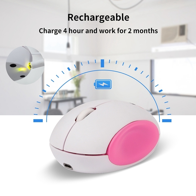 Cartoon Wireless Computer Mouse Rechargeable USB Optical Computer Mice Mini Laptop Mouse Smile Face Design Mice for Kids 3