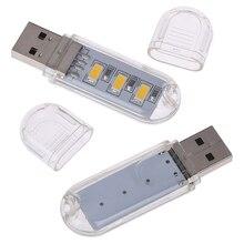 Hot New 2pcs Mini USB LED Book Lamps Camping Lamp For PC Laptops Computer Night Light