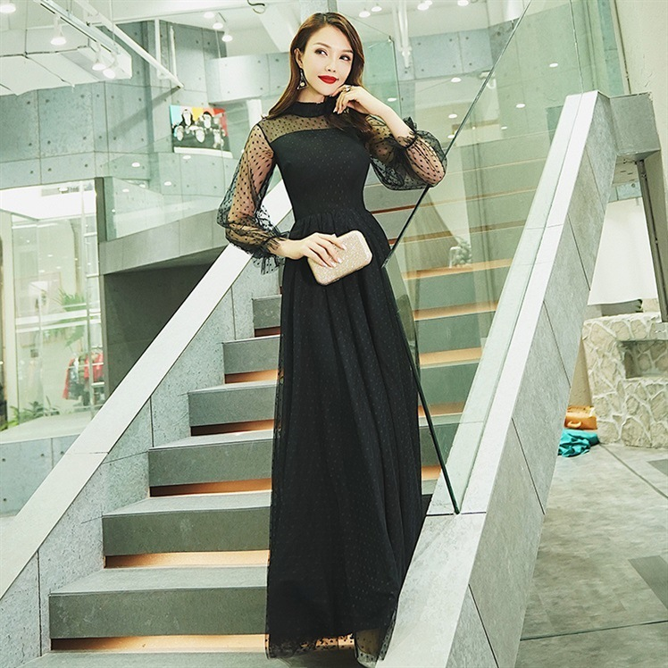 2020 Sale Bridesmaid Evening Dress 2020 New Long Noble Temperament Show Thin Socialite Party Convention High-end Wedding Skirt
