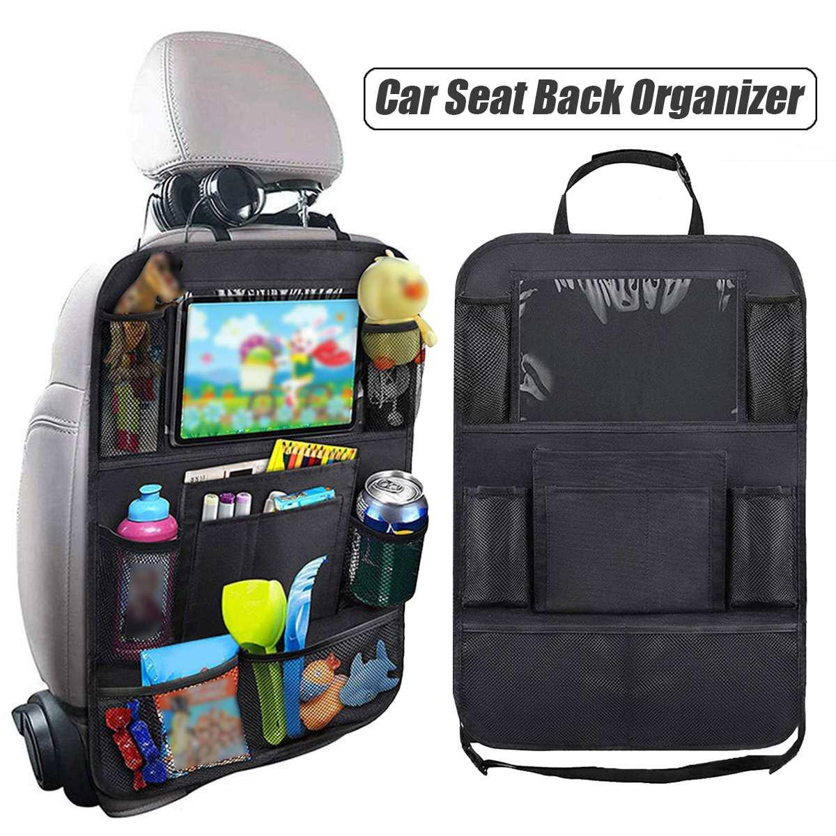 Universal Car Seat Back Bag Travel Storage Cup Holder Multifunction Organizer