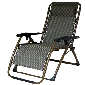 Summer Widened Thickened Recliner Folding Lunch Break Chair Home Easy Nap Bed Beach Lazy Leisure Chair