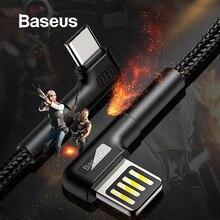 Baseus usb type C кабель QC3.0 3A провод для быстрого заряда для huawei Mate30 P30 Pro Xiaomi зарядное устройство провод USB-C type-C кабель для передачи данных