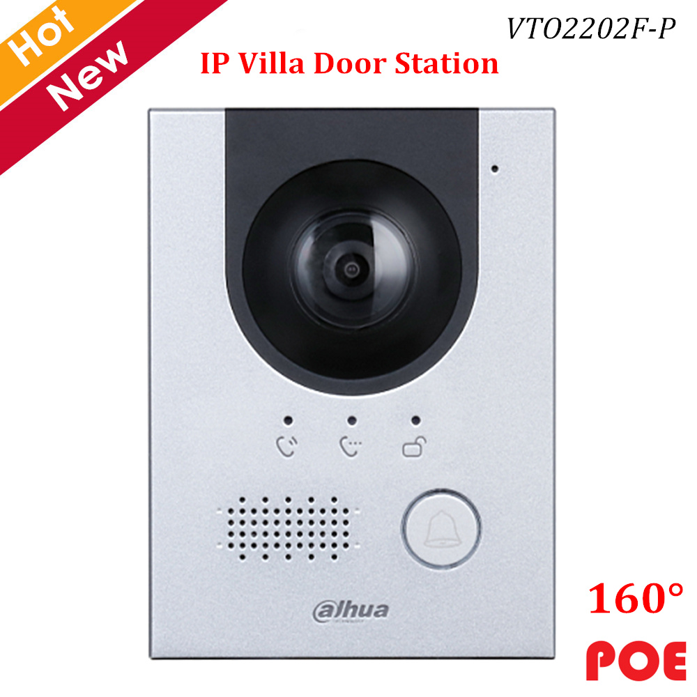 Dahua IP Villa Door Station 2MP CMOS Camera Night Vision Voice Indicator 160° Angle View Support POE Video Doorbell Accessory