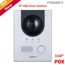 Dahua IP Villa Station de porte 2MP CMOS caméra Vision nocturne indicateur vocal 160 ° Angle de vue soutien POE vidéo sonnette accessoire