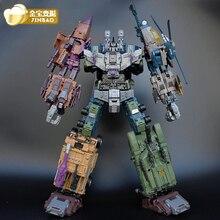 Jinbao крупногабаритная игрушка-робот-трансформер Bruticus Warbotron Onslaught Brawl Swindle Blast Off MMC