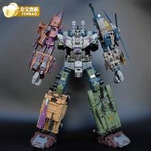 Jinbao oversized bruticus warbotron onslaught brawl fraude explosão fora mmc predaking figura transformação robô brinquedo