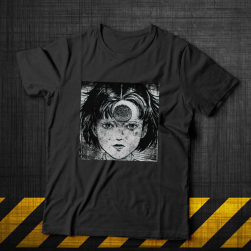 Uzumaki Eyeball Shirt Manga Horror Anime Junji Ito Creepy Cute 100% Cotton Summer Men Tops Tees Funny Print T Shirts