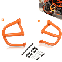 For KTM 390 Duke 2013 2014 2015 2016 2017 2018 2019 Motorcycle Accessories Crash Bar Frame Engine Protection Guard Bumper motorcycle plastic kits frame crash guard protection for honda crf250r 2014 2015 2016 crf450r 2013 2014 2015 2016 red black
