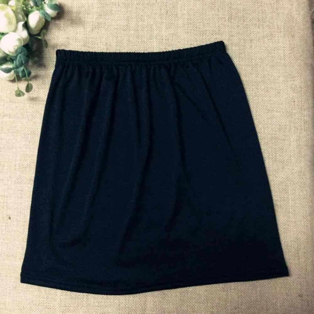 女性弾性ウエストショートペチコートショートストレッチサテンインナーウェアスカートソフトスリップペチコートレディスカートアクセサリー