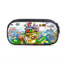 Cartoon Mario&Sonic Cosmetic Cases Pencil Bag Kids School Case Stationary