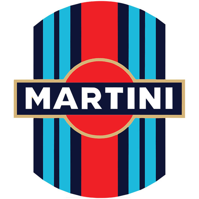 Cool MARTINI Racing Stickers Suitable for Bumper Mobile Phone Case Personalized Car Sticker Decoration Car Accessories KK15*12cm
